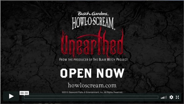 Howl-O-Scream Unearthed testimonial Video Photo